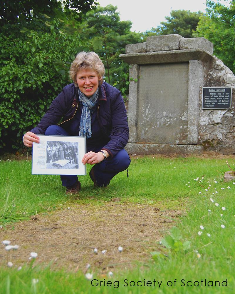 Grieg ancestral gravestone today