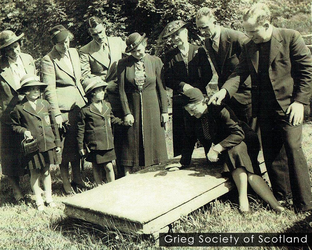 Grieg ancestral gravestone in 1930s