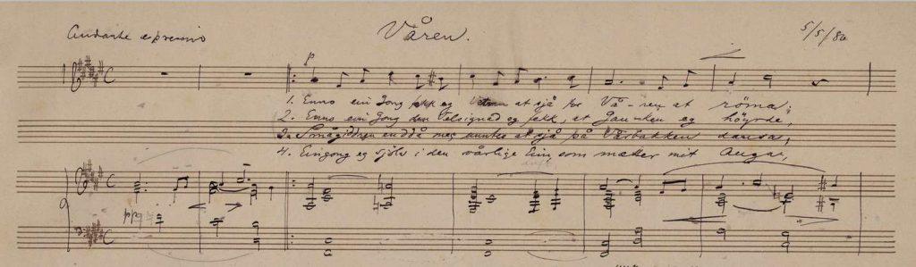 Edvard Grieg's 'Våren' (Spring) Op33n2