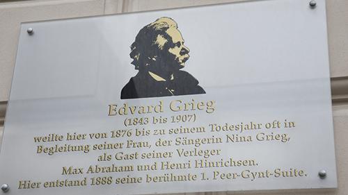 Grieg-Gedenstätte plaque