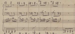Manuscript of Grieg's Norwegian Dances Op35