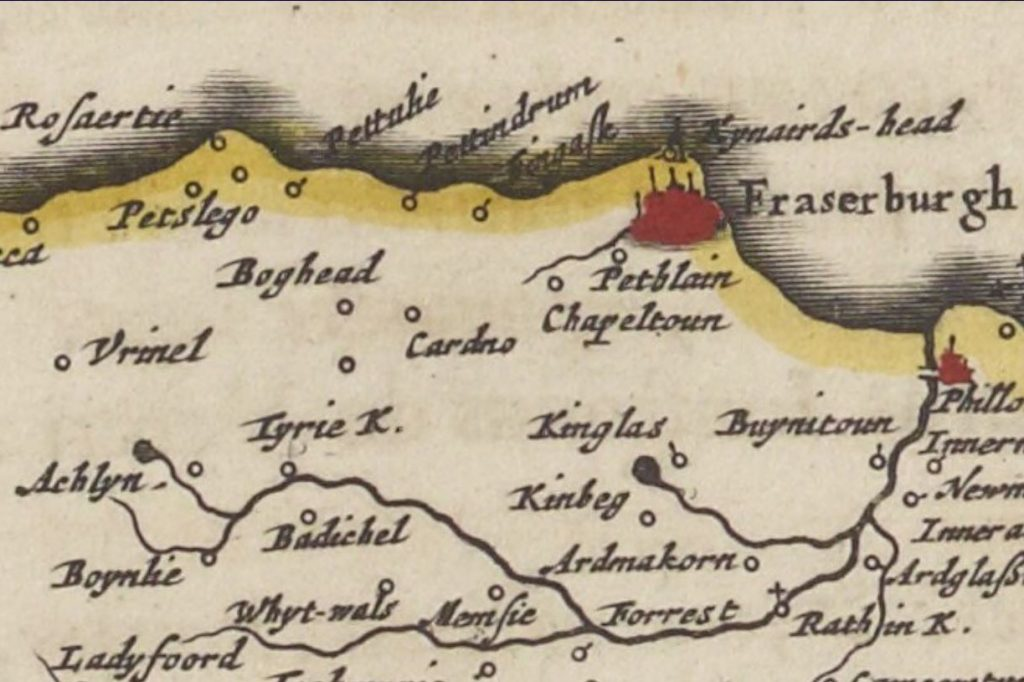 Pitsligo (Blaeu atlas of 1654)