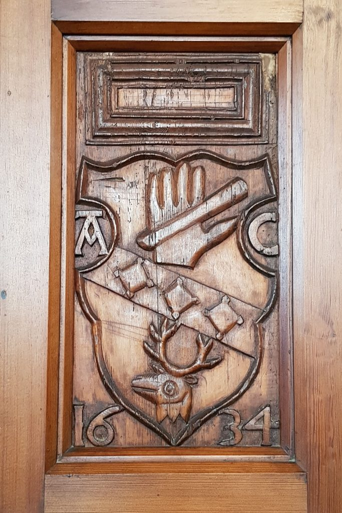 Carved panel from Pitsligo Auld Kirk